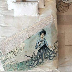 """Sherpa Blanket- """"Sea Fairy"""" by the artist Belle13"""